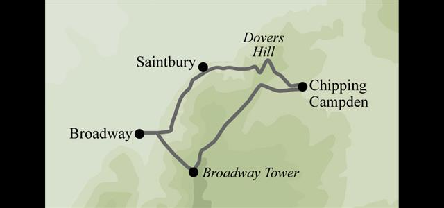 Route overview map